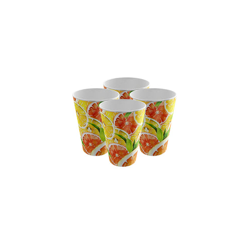 Pack of 4 Trendy Party Cup - Strong Plastic - Recyclable - Perfect For Your Picnic Part