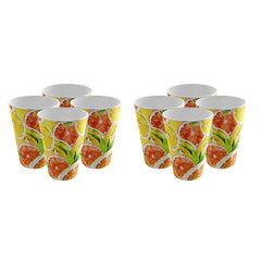 Pack of 8 Trendy Party Cup - Strong Plastic - Recyclable - Perfect For Your Picnic Part