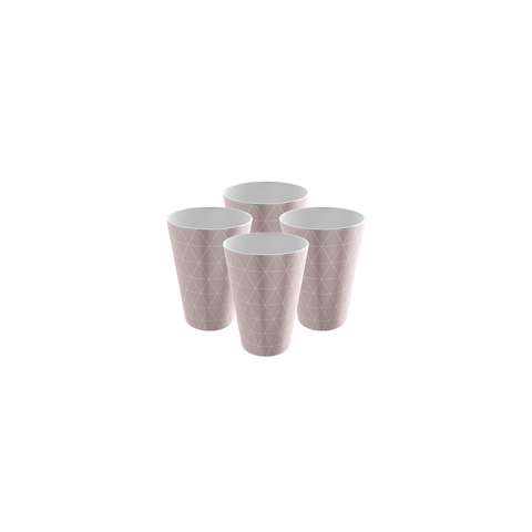 Pack of 4 Trendy Party Cup - Strong Plastic - Recyclable - Perfect For Your Barbecue Party