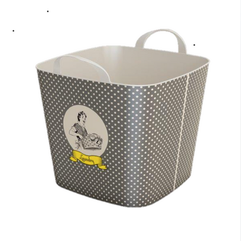 Stylish TUB  -25L- Storage Basket / Vintage Woman Brown Design