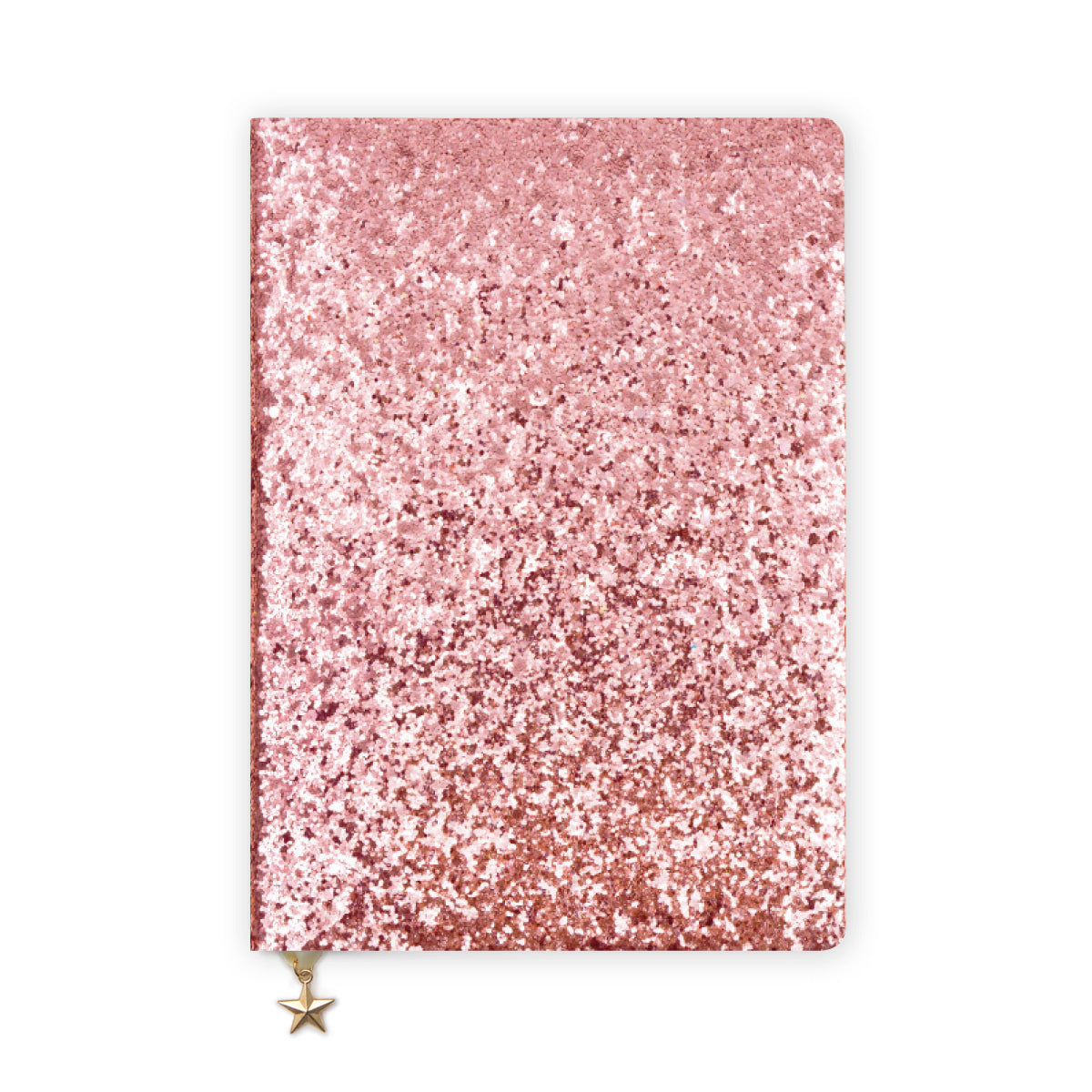 ALL THAT GLITTERS A5 RULED NOTEBOOK - PINK SEQUIN