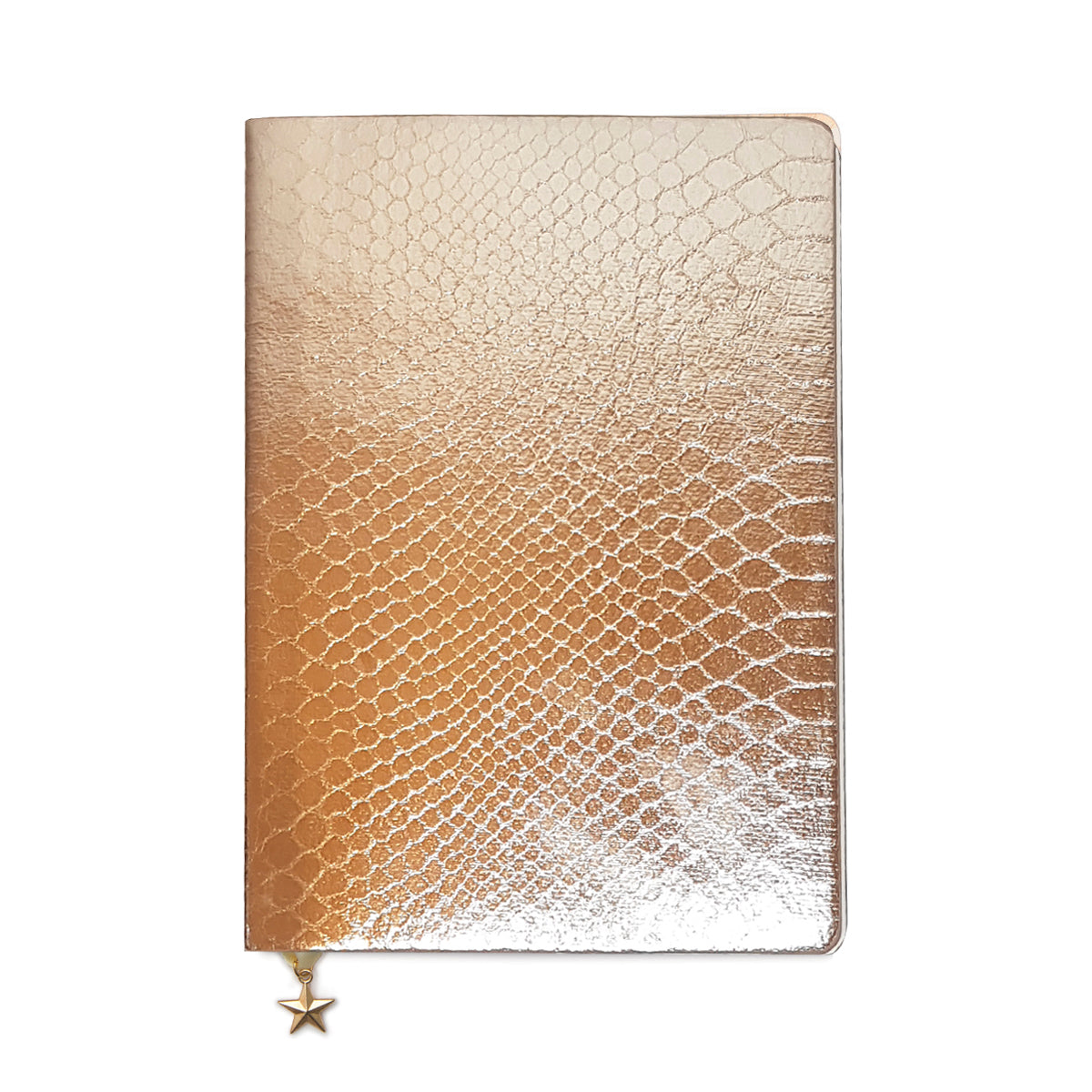 ALL THAT GLITTERS A5 RULED NOTEBOOK - ROSE COPPER CROC