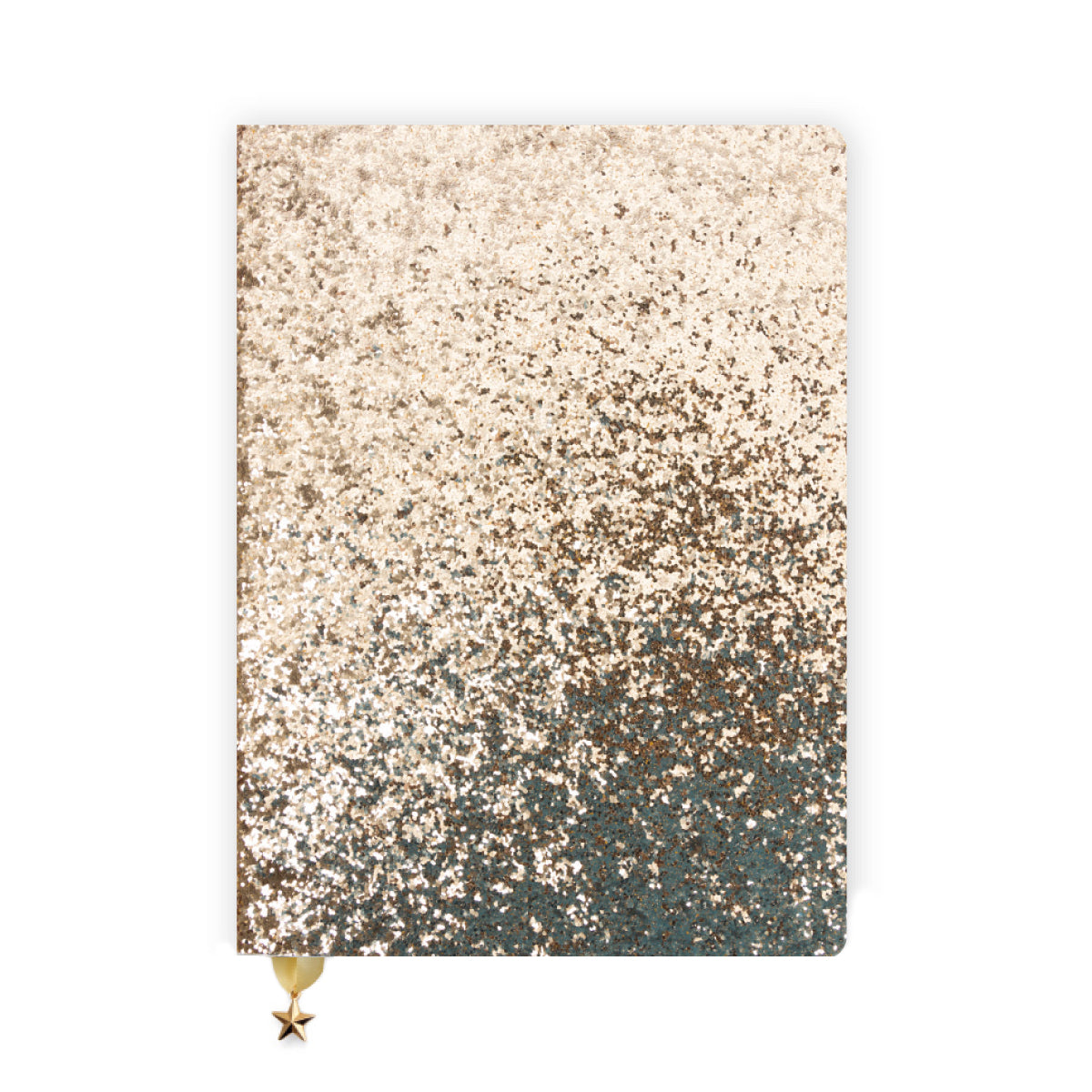 ALL THAT GLITTERS A5 RULED NOTEBOOK - GOLD SEQUIN