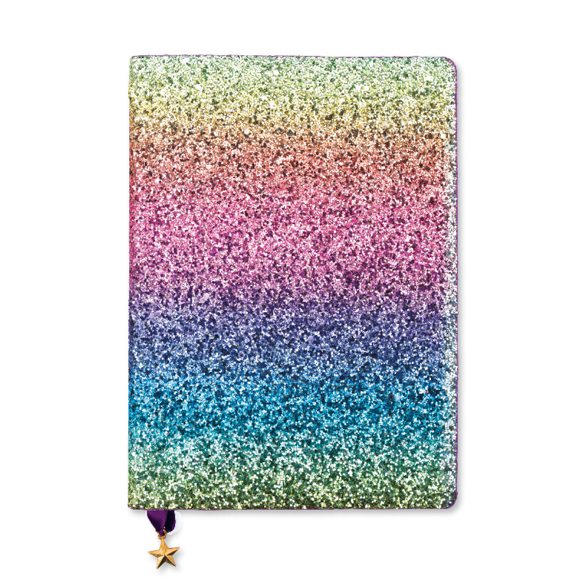 ALL THAT GLITTERS A5 RULED NOTEBOOK - RAINBOW SEQUIN