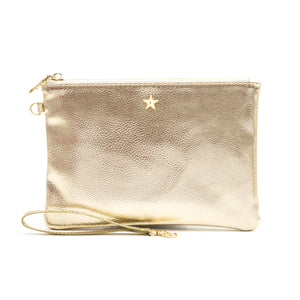 ALL THAT GLITTERS Pouch - Light gold Metallic