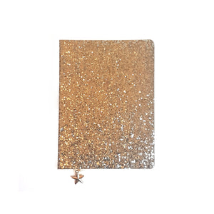 ALL THAT GLITTERS A6 UNDATED DIARY - GOLD SEQUIN
