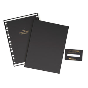 COLOURBLOCK™ Personalised Notebook Gift Set - Black