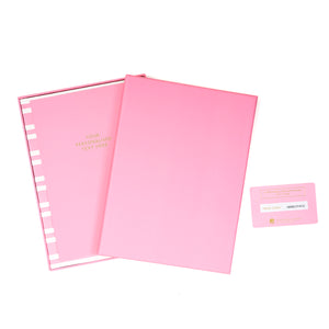 COLOURBLOCK™ Personalised Notebook Gift Set - Candy Pink