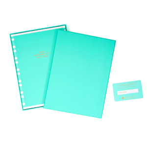 COLOURBLOCK™ Personalised Notebook Gift Set - Teal