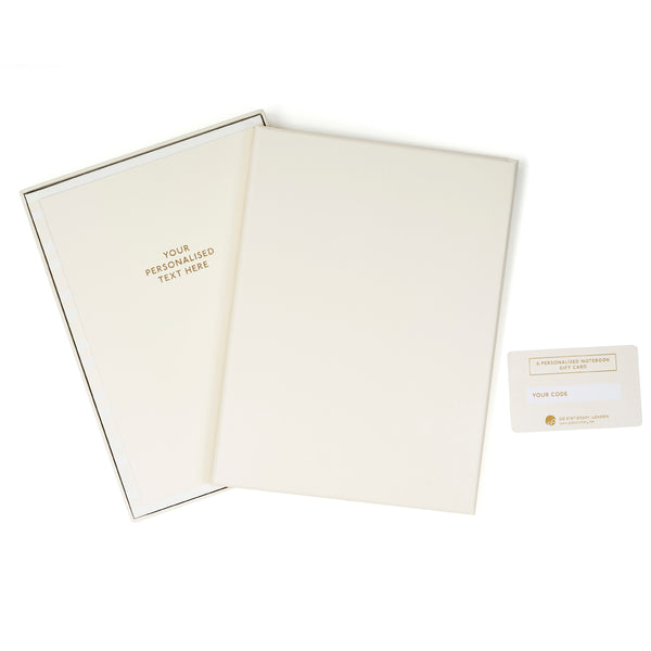 COLOURBLOCK™ Personalised Notebook Gift Set - Paper White