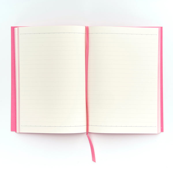 COLOURBLOCK™ A5 Personalised Notebook - Candy Pink