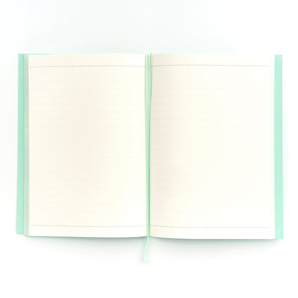 COLOURBLOCK™ A5 Personalised Notebook - Neo Mint