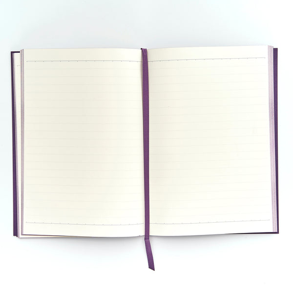 COLOURBLOCK™ A5 Personalised Notebook - Rich Plum