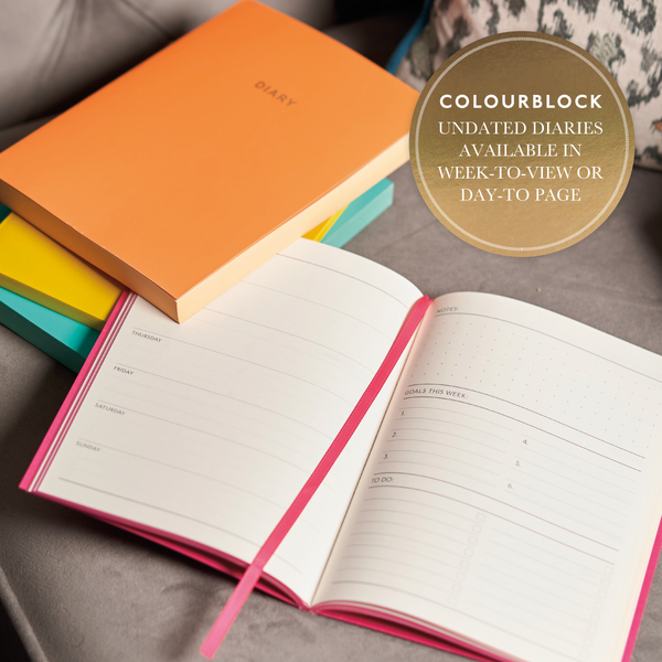 COLOURBLOCK™ A5 WTV Undated Diary - Steel