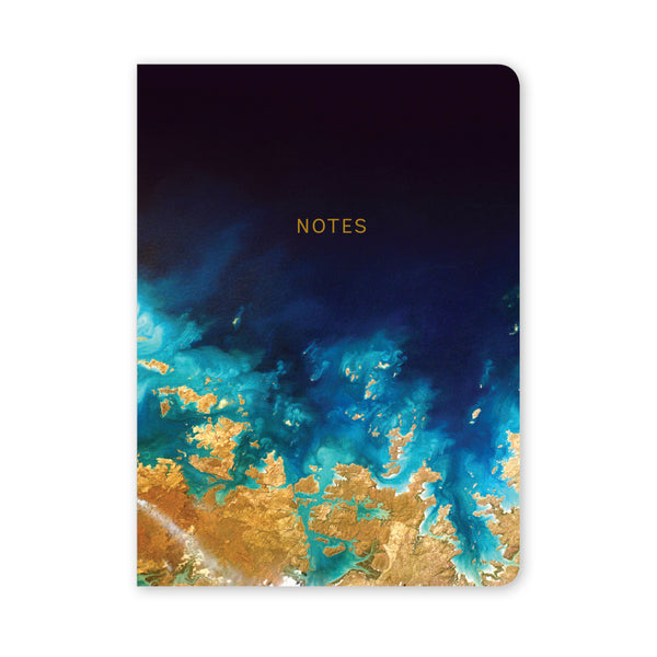Marbleous A5 Notebook - Earth View