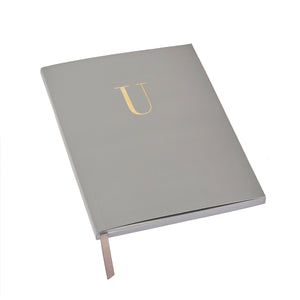 MONOGRAM A5 RULED FOILED NOTEBOOK - GRANITE