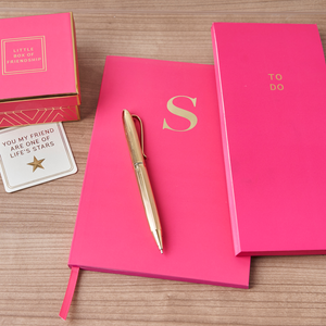 MONOGRAM A5 Notebook - Cerise Pink