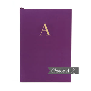 MONOGRAM A5 Notebook - Rich Plum