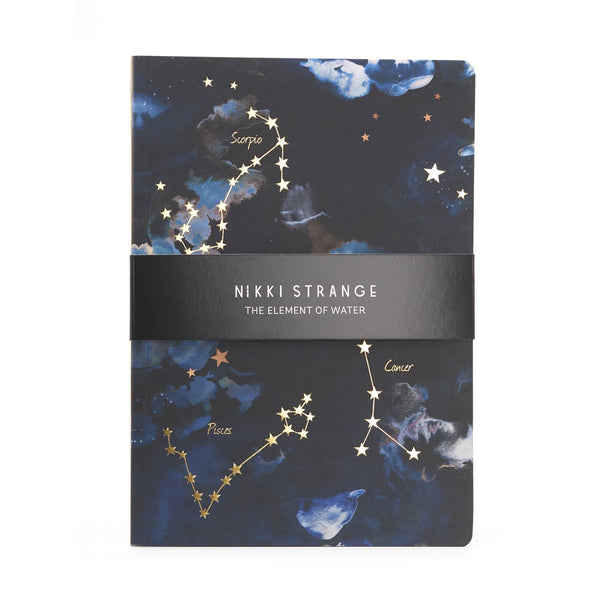 Nikki Strange Elements A5 Notebook - WATER
