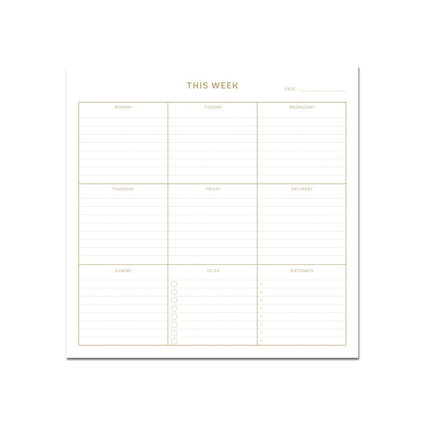 Large Weekly Planner - Black 365