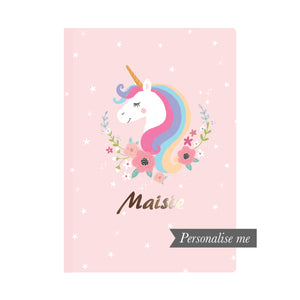 A5 Personalised Notebook - Unicorn