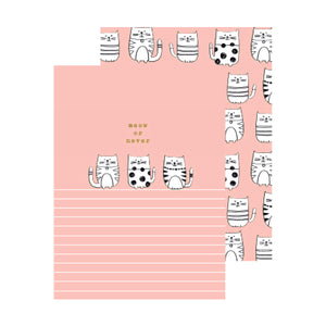 MIX & MATCH Set of 2 Exercise Book - Sketchy Cat