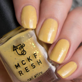 Mckfresh Jewels In Mustard Nail Polish