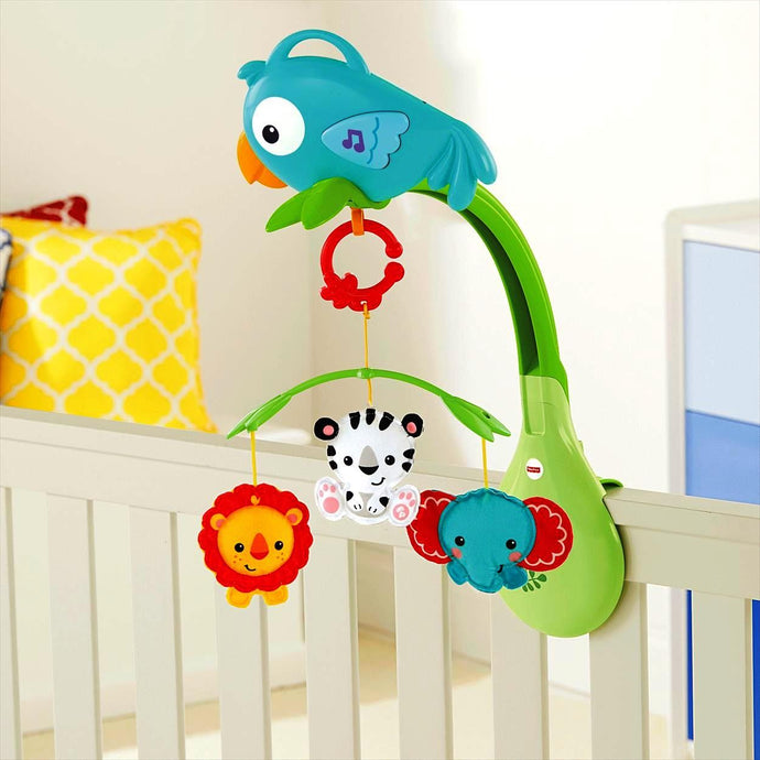 Fisher Price Rainforest Friends 3-in-1 Musical Mobile - Momitall.net