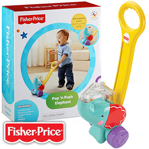 Fisher Price Pop 'n Push Elephant - Momitall.net