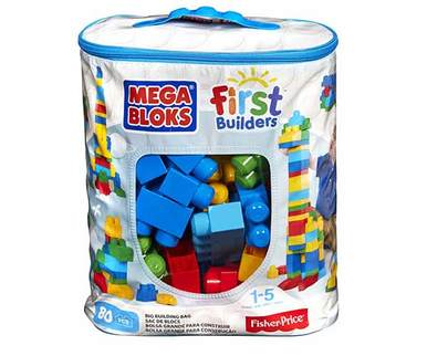 Fisher Price Mega Bloks® First Builders Big Building Bag 80-Piece - Momitall.net