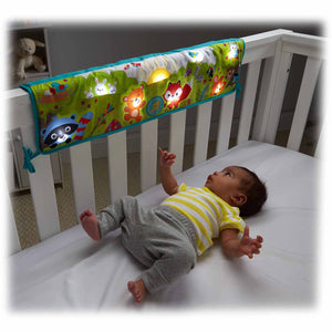 Fisher Price Woodland Friends Twinkling Lights Crib Rail Soother - Momitall.net