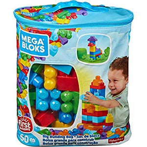 Mega Blocks Big Building Bag, 60-Piece (Classic)