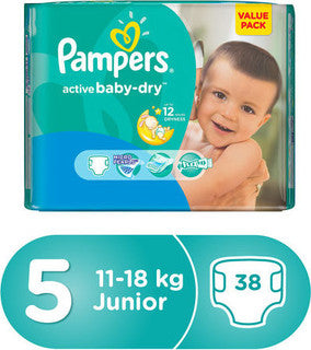 Pampers Active Baby Dry Diapers 5 - Momitall.net