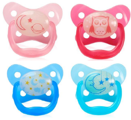 Dr Brown's Glow in Dark Pacifier 6-12 month, 2- Pack