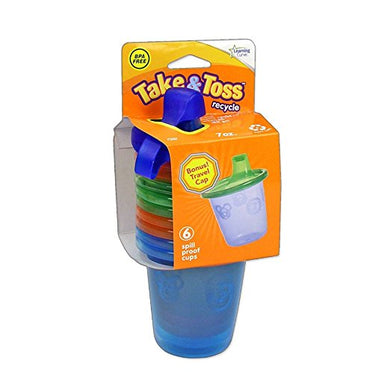 The First Years Take & Toss Spill-Proof 7 Ounce Cups - 6 pc - Momitall.net