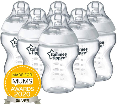 Tommee Tippee Closer to Nature 6 x 260 ml Feeding Bottles