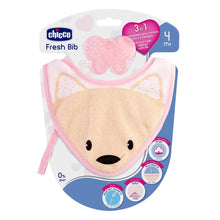 Chicco Fresh Bib with Detachable Teether Pink & Blue