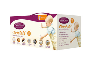 ClevaMama - 30 Pcs Home Safety Starter Pack - (Euro Plug)