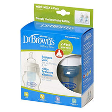 Dr. Brown's Wide-Neck Bottle, 4 Ounce, 2-Pack
