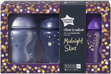Tommee Tippee Closer to Nature Midnight Skies Baby Bottle, 260 ml, Pack of 3