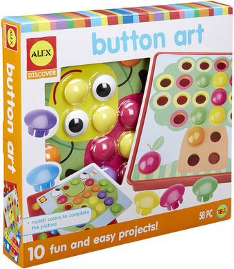 Alex Discover Button Art Activity Set Kids Art and Craft Activity