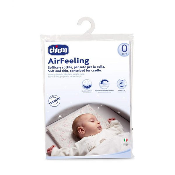 Chicoo AirFeeling Soft and Thin Pillow Conceived for Cradle
