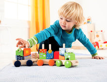 Educo Fantasia Stacking Block Train - Momitall.net