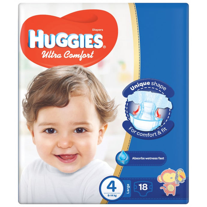 Huggies Ultra Comfort Diapers 4 - Momitall.net