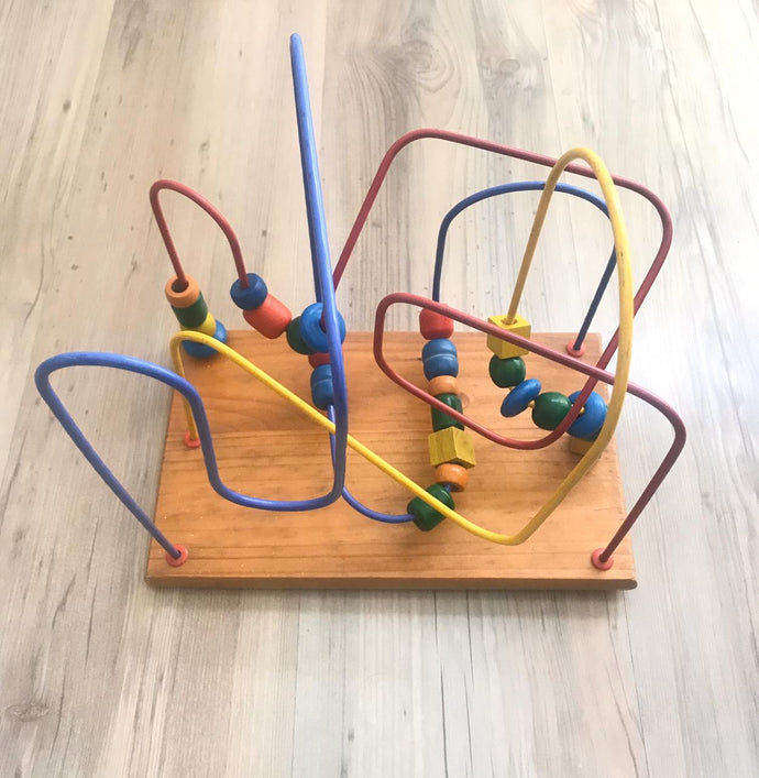 [Pre-Loved] Wooden Bead Maze