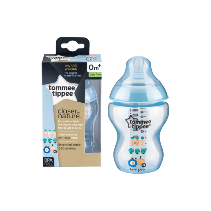 Tommee Tippee 260 ml Closer to Nature Decorated Bottles - Momitall.net