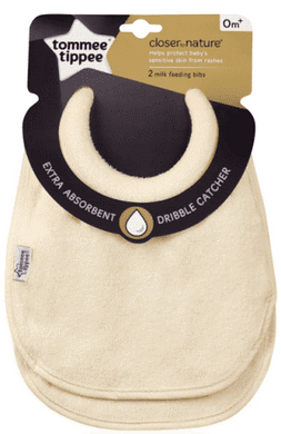 Tomme Tippee 2 x Closer to Nature Milk Feeding Bib 0+ Months