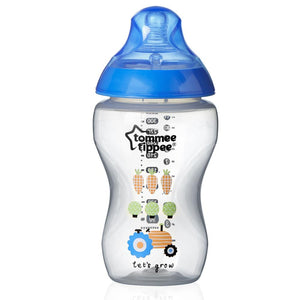 Tommee Tippee 340 ml Decorated Bottles (Pink or Blue)