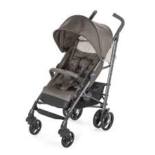chicco Lite Way 3 Basic Stroller Grey/ Red Berry