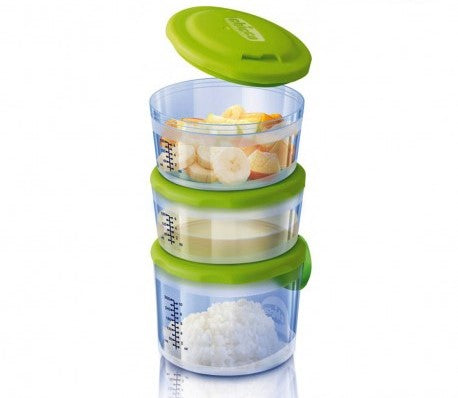 Chicco Baby Food Containers System (6m+) - Momitall.net